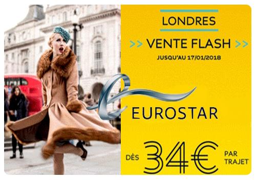 Eurostar : promotion à destination de Londres