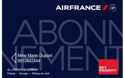 Air France : Promotion Carte d'abonnement 1ères souscriptions
